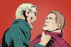 O homem grita no colega amedrontado Ilustração conservada em estoque Imagens de Stock Royalty Free