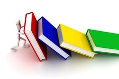 O homem guarda livros ilustração royalty free