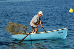 O homem idoso e o mar Foto de Stock