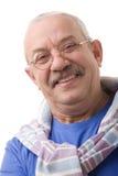 O homem idoso feliz imagens de stock royalty free
