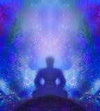 O homem medita, ioga ilustração do vetor