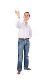 O homem mostra o sinal aprovado Foto de Stock