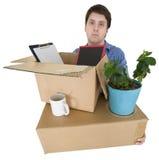 O homem move-se no outro escritório Imagens de Stock