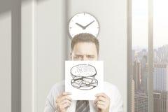 O homem não pode esperar o almoço Imagem de Stock
