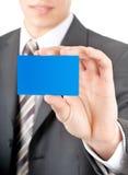 Exibição de um close up plástico do cartão Fotografia de Stock Royalty Free