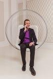 O homem no terno Foto de Stock Royalty Free