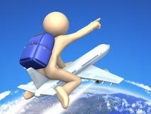 O homem novo está começando a viagem. Imagem de Stock Royalty Free