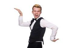O homem novo na veste clássica preta isolada sobre Imagem de Stock Royalty Free