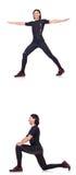 O homem novo que faz exercícios Imagem de Stock Royalty Free
