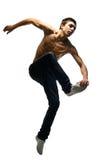 O homem novo salta Foto de Stock
