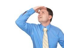O homem olha acima Imagens de Stock