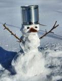 O homem pequeno da neve para o jogo. Foto de Stock Royalty Free