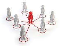 3d povos pequenos - rede do sócio Imagem de Stock