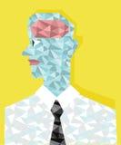 O homem que tem o cérebro dos diamantes Imagens de Stock Royalty Free