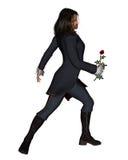 O homem romântico com levantou-se - 3 Fotografia de Stock Royalty Free