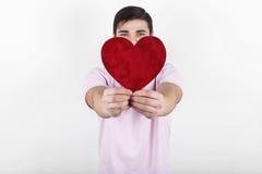 O homem romântico do Valentim Imagem de Stock