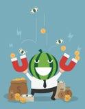 O homem transforma-se o multimilionário de seu negócio bem sucedido Fotografia de Stock Royalty Free