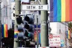 O homossexual assina dentro San Francisco Imagem de Stock