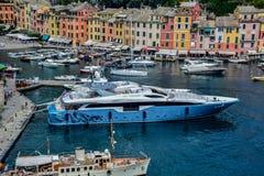 O horbour de Portofino Fotografia de Stock