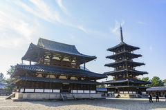 O Horyu histórico Ji fotografia de stock