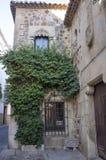 O hospital do peregrino Knights Caceres de construção gótico, Espanha fotos de stock royalty free