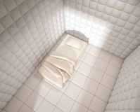 O hospital mental acolchoou o quarto de Fotografia de Stock Royalty Free