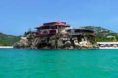 O hotel bonito de Eden Rock em St Barts, Índias Ocidentais francesas Imagem de Stock
