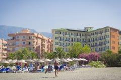 O hotel da praia do fogo de Sun em Kemer Turquia, pode Imagens de Stock