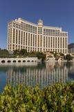 O hotel de Bellagio, amanhecer em Las Vegas, nanovolt o 27 de abril, Fotos de Stock Royalty Free