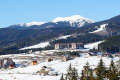 O hotel de Radisson está na inclinação em Bukovel Imagem de Stock