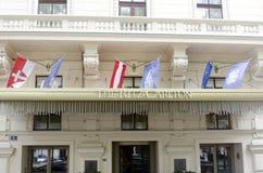 O hotel de Ritz Carlton, Viena fotos de stock
