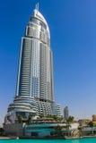 O hotel do endereço em Dubai do centro, Emiratos Árabes Unidos Imagem de Stock