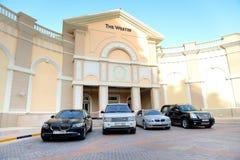 O hotel e as limusinas de Westin Fotografia de Stock Royalty Free