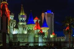 O hotel e o casino de Excalibur - em Vegas foto de stock royalty free