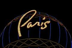 O hotel e o casino de Paris assinam dentro Las Vegas Fotos de Stock Royalty Free