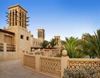 O hotel e o distrito famosos do turista de Madinat Jumeirah Fotografia de Stock