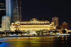 O hotel Singapore de Fullerton Foto de Stock Royalty Free