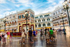 O hotel Venetian Macau do casino imagem de stock royalty free