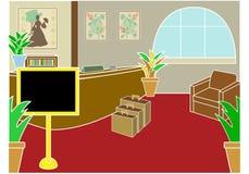 O hotel verific dentro a entrada Fotografia de Stock Royalty Free