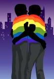 O Hug alegre ilustração do vetor