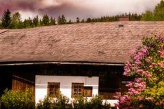 O huse em Sumava, República Checa Imagem de Stock Royalty Free