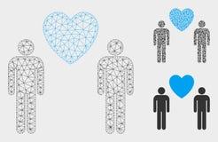 2.o icono del mosaico del modelo y del triángulo de los amantes de la malla gay del vector libre illustration
