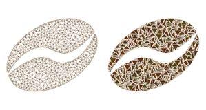 2.o icono poligonal de Mesh Cacao Bean y del mosaico libre illustration