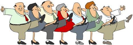 O idoso poder-pode Imagens de Stock Royalty Free