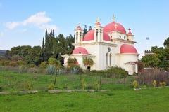 O a igreja ortodoxa dos doze apóstolos foto de stock