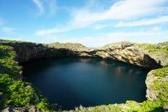 O ike dos toros ou os toros pond na ilha de Shomoji, Okinawa imagem de stock royalty free