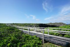 O ike dos toros ou os toros pond na ilha de Shomoji, Okinawa imagem de stock