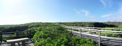 O ike dos toros ou os toros pond na ilha de Shomoji, Okinawa imagens de stock