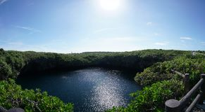O ike dos toros ou os toros pond na ilha de Shomoji, Okinawa fotos de stock royalty free