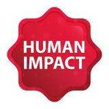 O impacto humano enevoado aumentou botão vermelho da etiqueta do starburst ilustração stock